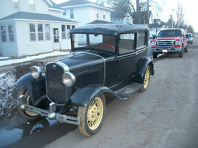 Ford : Model A 2- door 1931 model a ford tudor sedan reliable daily driver hot rod indented firewall