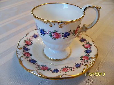 VINTAGE HAMMERSLEY & CO. MADE IN ENGLAND FLORAL CUP AND SAUCER