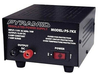 New Pyramid PS7KX (PS-7KX) 5 Amp Constant Regulated AC/DC Power Supply