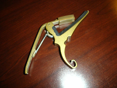 Kyser 2007 Quick Change 6-String Guitar Capo Gold Finish
