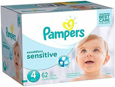 NEW Pampers Swaddlers Sensitive Diapers  Size 4 62 ct FREE SHIPPING