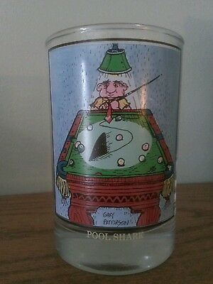 Drinking Glass Gary Patterson Pool Shark  Arby's 1982
