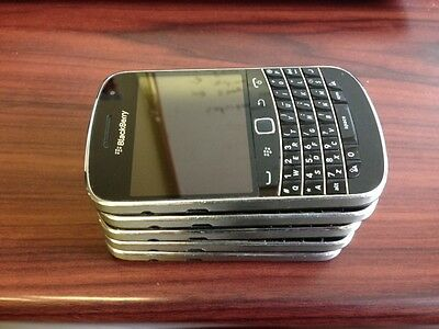 Lot of 5 BlackBerry Bold 9900 - Black - (Unlocked) Good Condition Smartphone