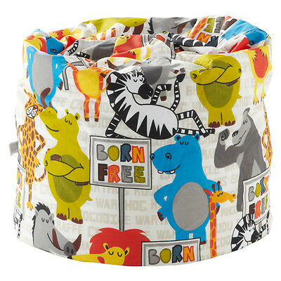 Children's Bean Bag Born Free Animals Girls Kids Bedroom Furniture Seat Beanbag