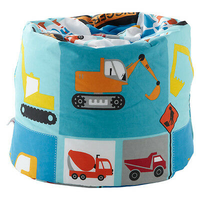 Children's Bean Bag Construction Boys Kids Bedroom Furniture Digger Seat Beanbag