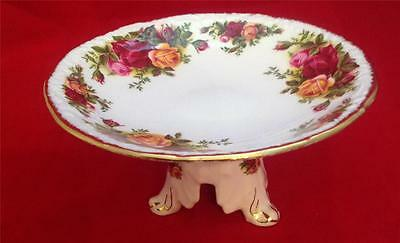 ROYAL ALBERT OLD COUNTRY ROSES TAZZA CANDY STAND ENGLAND older collectible