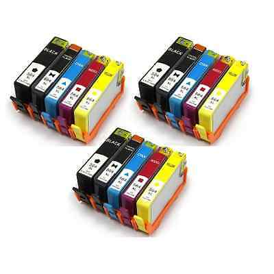 15 pack HP 564XL Ink For C310A PhotoSmart Premium  with *New Ink Level Chip*