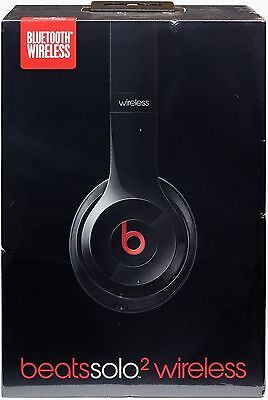 Beats by Dre Solo 2 black Wireless HeadPhones Free Fast 2-Day Shipping