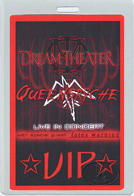 Dream Theater Queensryche 2003 Laminated Backstage Pass