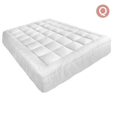 Pillowtop Mattress Topper Memory Resistant Protector Pad Cover Queen Bedroom Bed