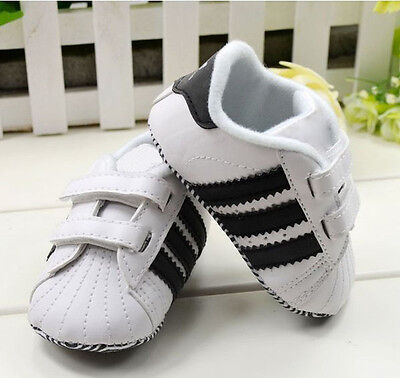 Toddler Baby Boy Girl White Soft Sole Crib Shoes Infant Sneakers 0-18 Months /M