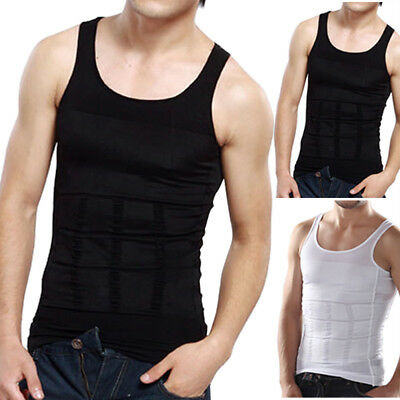Men Mens Body Shaper Slimming Vest Shirt Tummy Belly Shapewear AU 32 - 48