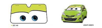 Disney Pixar Cars Lightning McQueen Front Car Windshield Sun shade new Green