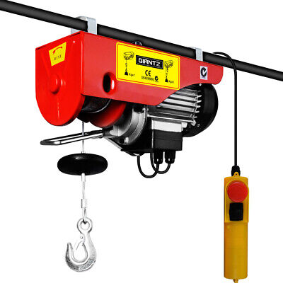 125/250KG 510 W Electric Hoist Winch Garage Workshop Warehouse Lifting