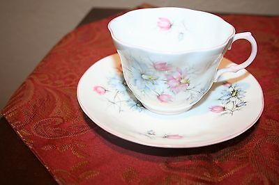 Vintage Queen's Fine Bone China Floral Cup and Saucer Made in England