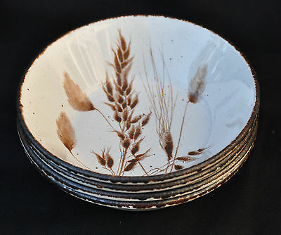 """Set of 4 Midwinter Stonehenge Wild Oats  6 1/2"""" Cereal Bowls"""