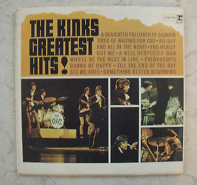 THE KINKS GREATEST HITS !  LP VINYL  Record Album Classic Rock Aged Collectible