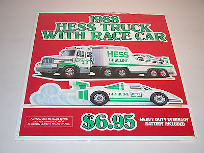 Hess 1988 Toy Truck And Racer  Vertical Matted Poster