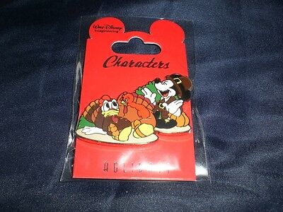 Disney Imagineering  WDI 2012  THANKSGIVING MICKEY AND DONALD  LE 250 Cast Pin