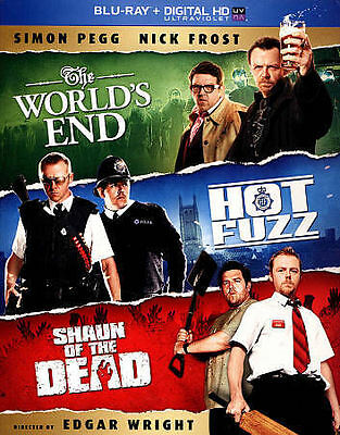 The World's End/Hot Fuzz/Shaun of the Dead (Blu-ray Disc, 2013, 3-Disc Set)