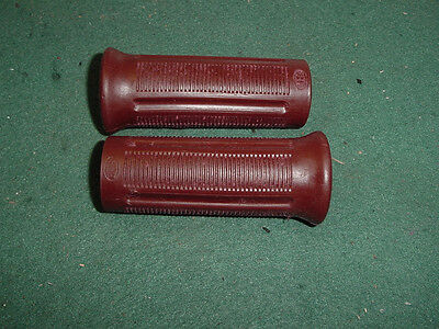 SPRING SPECIAL Harley Davidson motorcycle BROWN-RED BECK hand grips knucklehead