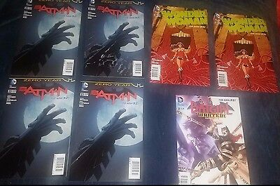 LOT OF 7 DC COMICS BOOKS BATMAN~BATGIRL WANTED~WONDER WOMAN THE NEW 52 #23