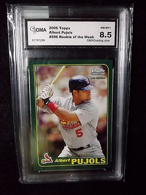 Albert Pujols - 2006 Topps Rookie of the Week # 596  - GMA  Gem NM/Mt. 8.5