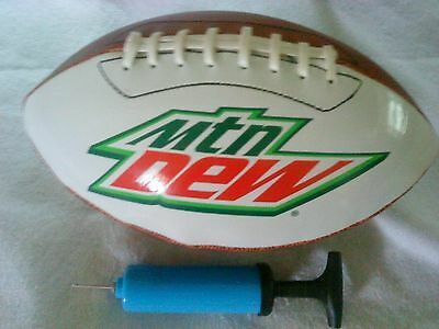 MOUNTAIN DEW FOOTBALL (Regulation Size)  NICE BALL *NEW, comes w/ pump &needle