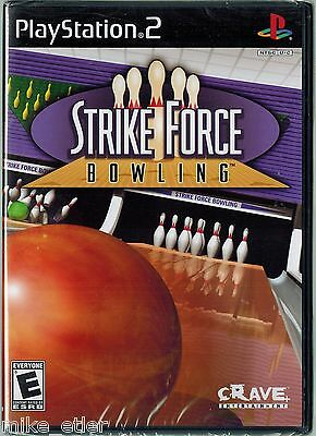 Strike Force Bowling  (Sony PlayStation 2, 2004) Factory Sealed