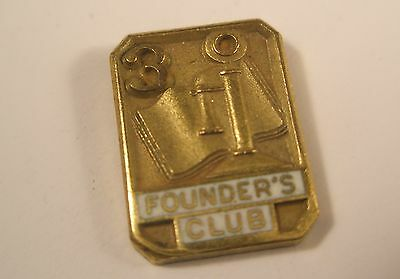 Founder's Club 3 Year Tie Tack Lapel Pin LGB 1/10 10K GF Gold gift