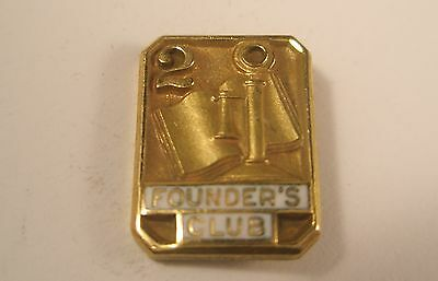 Founder's Club 2 Year Tie Tack Lapel Pin LGB 1/10 10K GF Gold gift