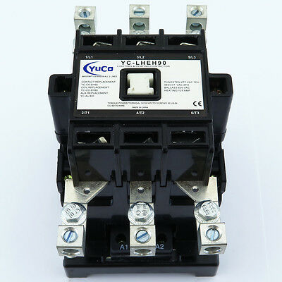 New 125A 125Amp Lighting Contactor Yc-Lheh90-2 Fits Abb Eh 90 120V Coil W/lugs