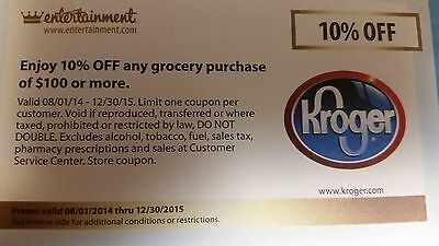 10% OFF ANY GROCERY PURCHASE OF $100 OR MORE @ CINCINNATI & DAYTON KROGER STORES