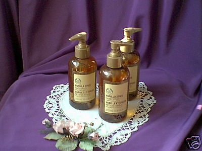 ~'~ Very Rare!  Set of 3 Vanilla Spice Hand Soap from The Body Shop~'~