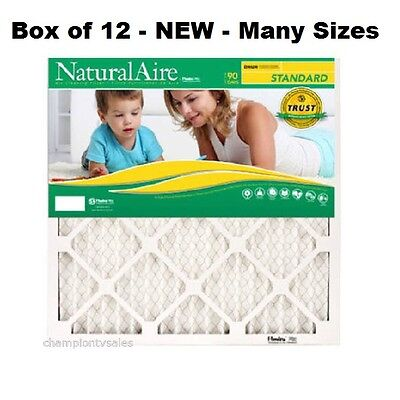 12 PACK - Many Sizes - Flanders Natural Air Standard Pleated Air Filters MERV 8