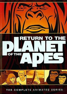 NEW RARE OOP RETURN TO PLANET OF THE APES COMPLETE ANIMATED TV SERIES 2 DISC DVD