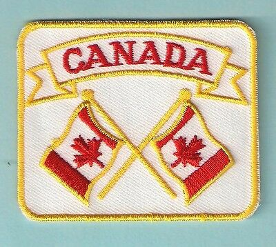 Canada Maple Leaf Country Flag Souvenir Travel Patch