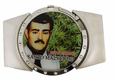 MALVERDE Sinaloa NARCO-SAINT HEBILLA  Mens Gold Rhinestone Lighters BELT BUCKLE