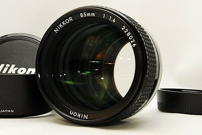Excellent++ NIKON NIKKOR 85mm F/1.4 f 1.4 Ai-S  AiS Fixed/Prime From JAPAN