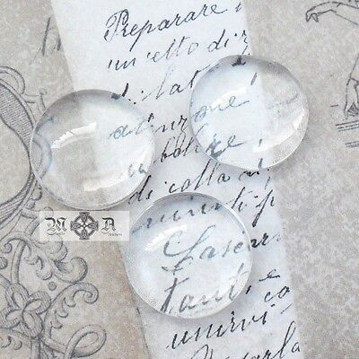 20 x Round Domed 18mm Clear Transparent Glass Cabochons Seals