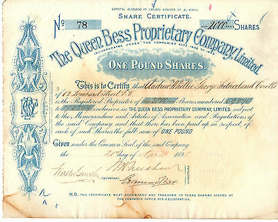The Queen Bess Proprietary Company Limited