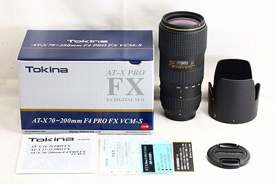 *Mint* Tokina AT-X SD 70-200mm f4 PRO FX VCM-S Lens for Nikon from Japan