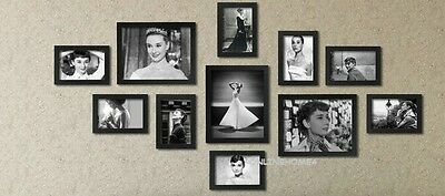 11Pcs Wooden Multi Photo Frame Wall Hang Frames Set Collage in Many Colours