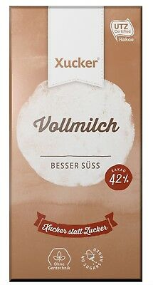 3 x Xucker Milk Chocolate 100g, Sweetened with Xylitol, No Sugar Added, Low Carb