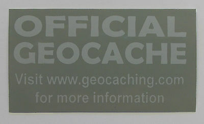 10 x Cache stickers for Geocaching gray print on gray sticker