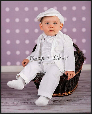 Baby Boy White Christening Wedding Baptism Smart Outfit Suit Formal Party 0-18m