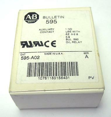 New Allen Bradley 595-A02 Series A Auxiliary Contact Quantity Available