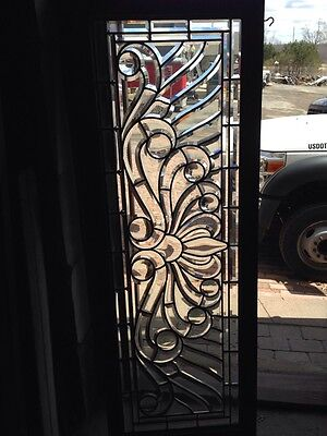 Sg 232 Antique Zippered Beveled Glass Transom Window