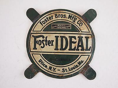 Vintage 1930's FOSTER Ideal Bed Springs Mattress Sign Advertising Tin