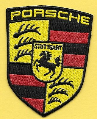 "New Porsche "" Shield"" 3"" X 2 1/4"" Inch Iron on Patch Free Shipping"